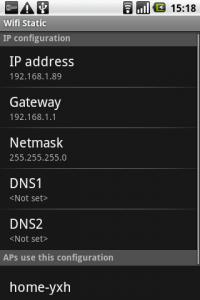 WiFi Static – переключатель настроек