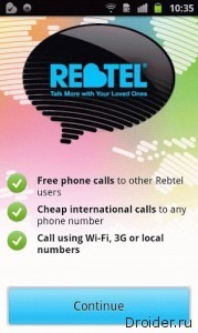 Rebtel -  Skype,  