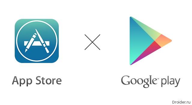 Google Play опережает App Store по числу загрузок приложений