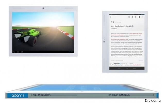 Notion Ink Adam II – необычный планшет с двумя экранами