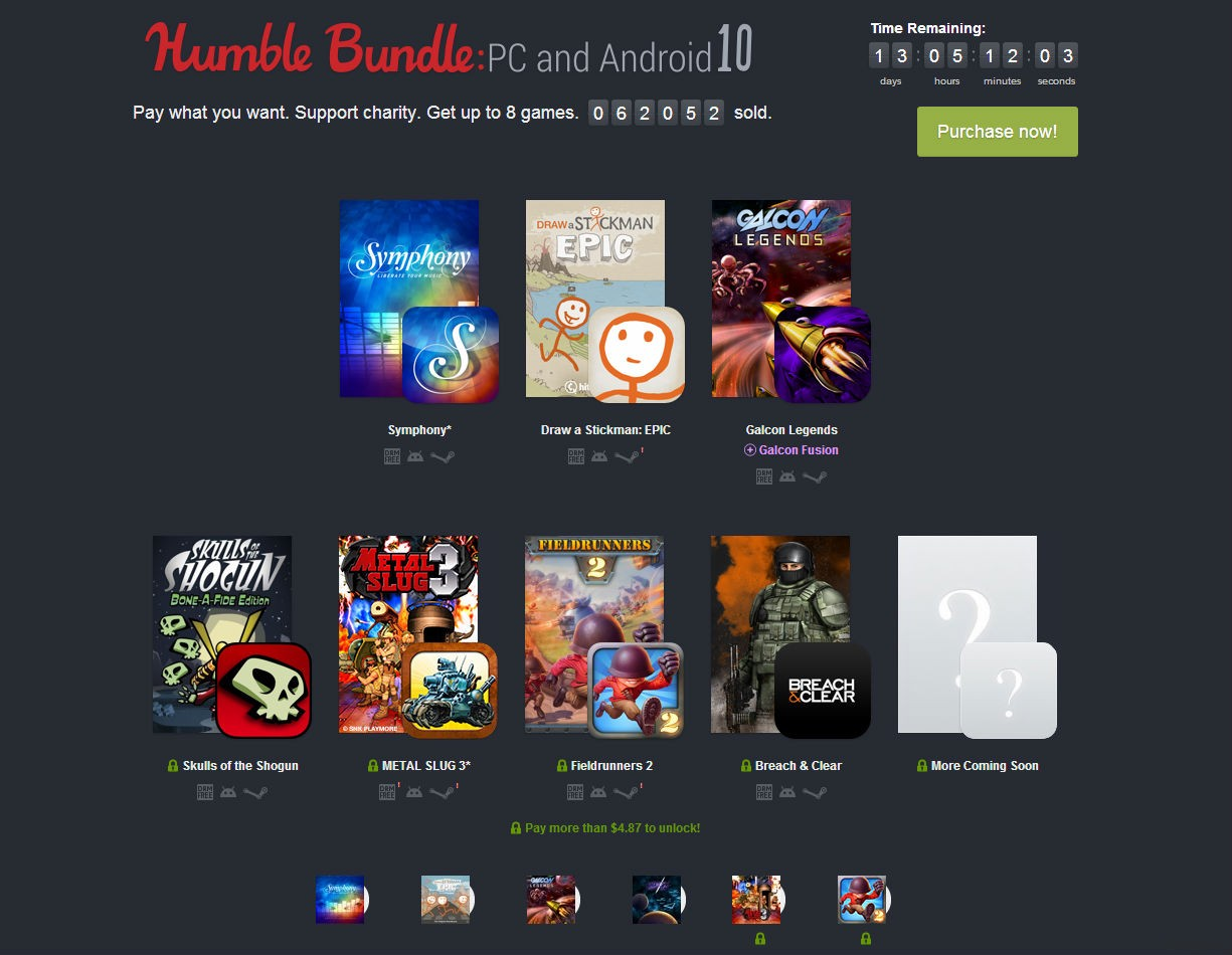 Humble Bundle: PC and Android 10