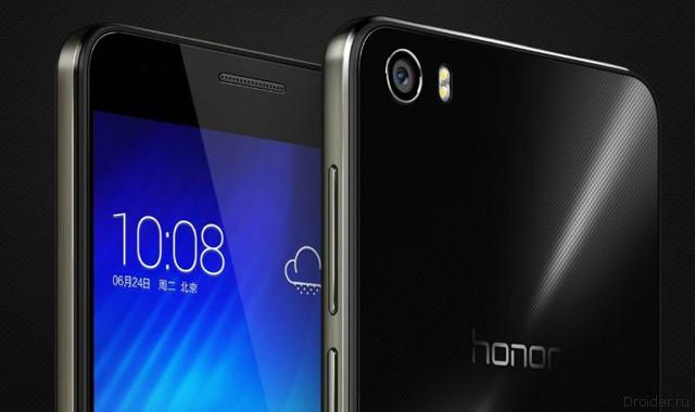 Huawei представила флагманский смартфон Honor 6