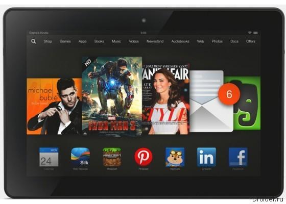 Планшет Kindle Fire HDX от Amazon засветился в AnTuTu