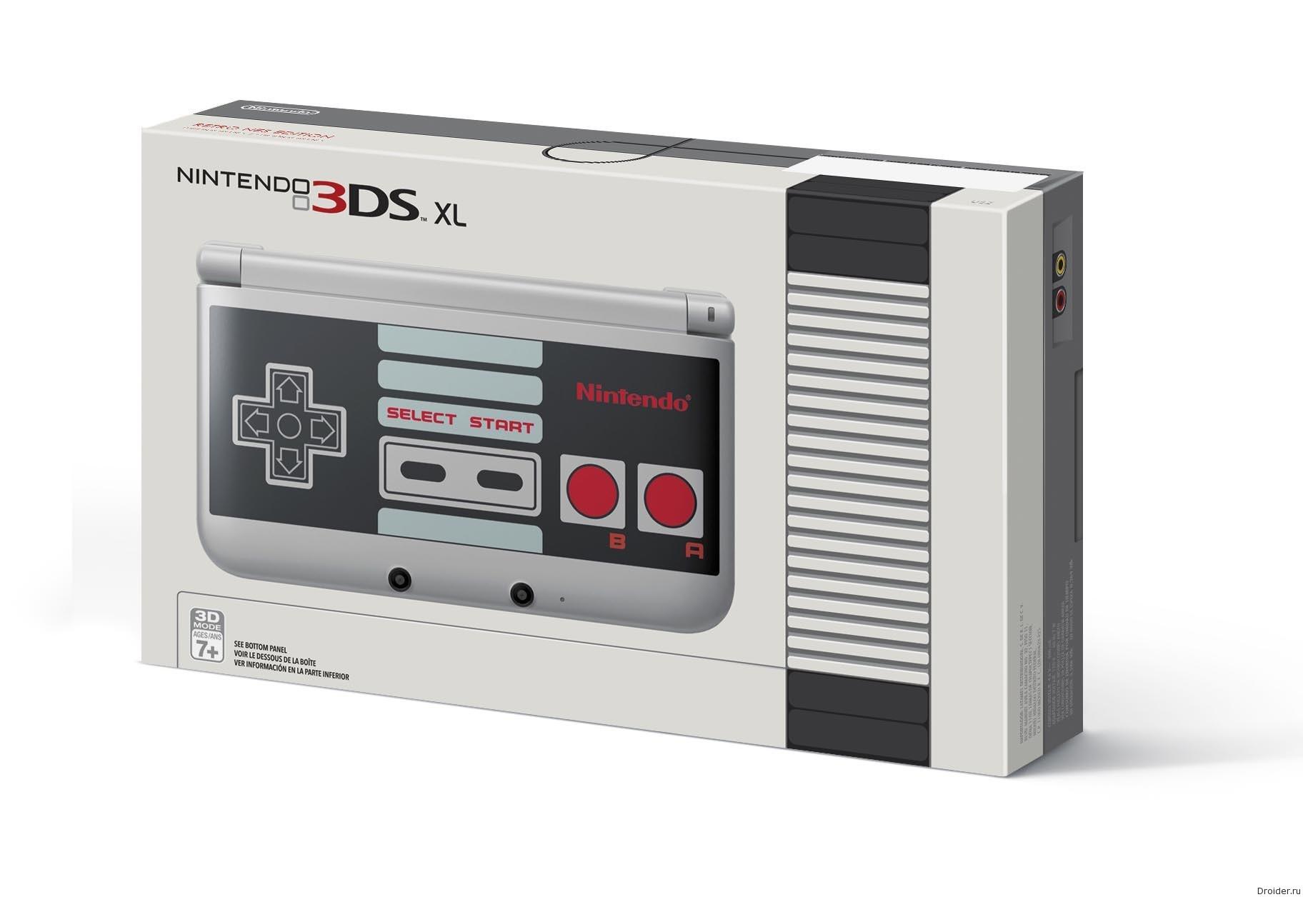 Бокс консоли 3DS XL от Nintendo в дизайне NES Edition