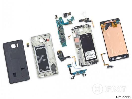В iFixit оценили ремонтопригодность Galaxy Alpha от Samsung