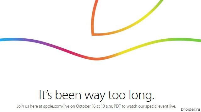 Вторая осенняя презентация Apple: iPad Air 2, iPad mini 3, iMac Retina, Mac mini (2014), OS X 10.10 и Apple Pay