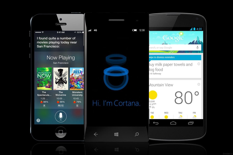 Siri, Cortana и Google Now