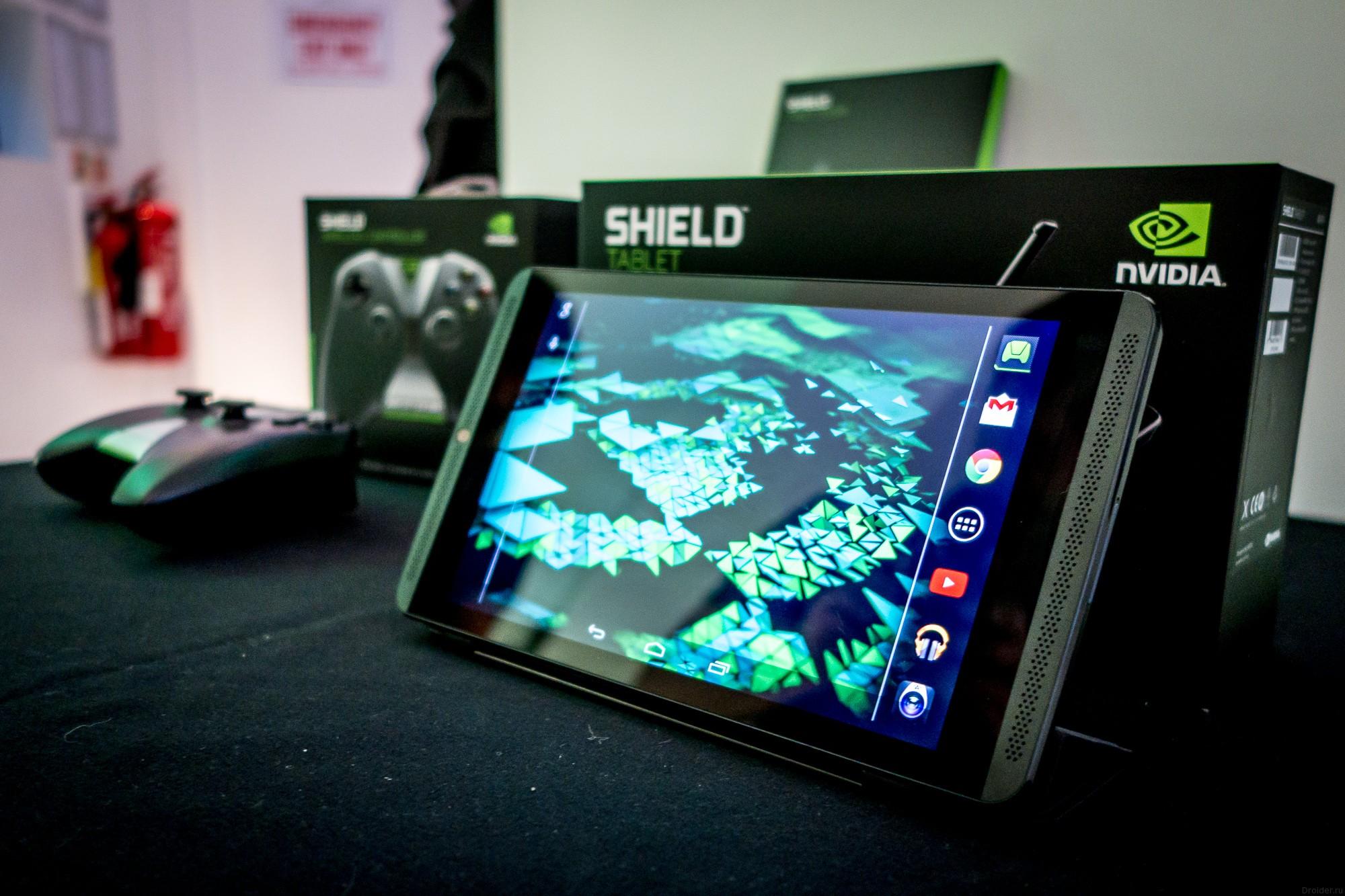 NVIDIA обновит Shield до Lollipop и запустит игры в облака