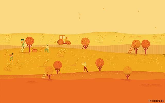 Осень из Google Календаря в Material Design