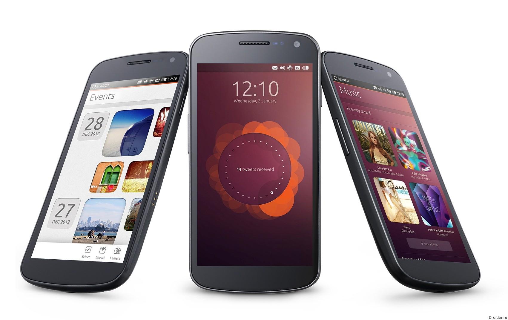Смартфон Ubuntu Edge