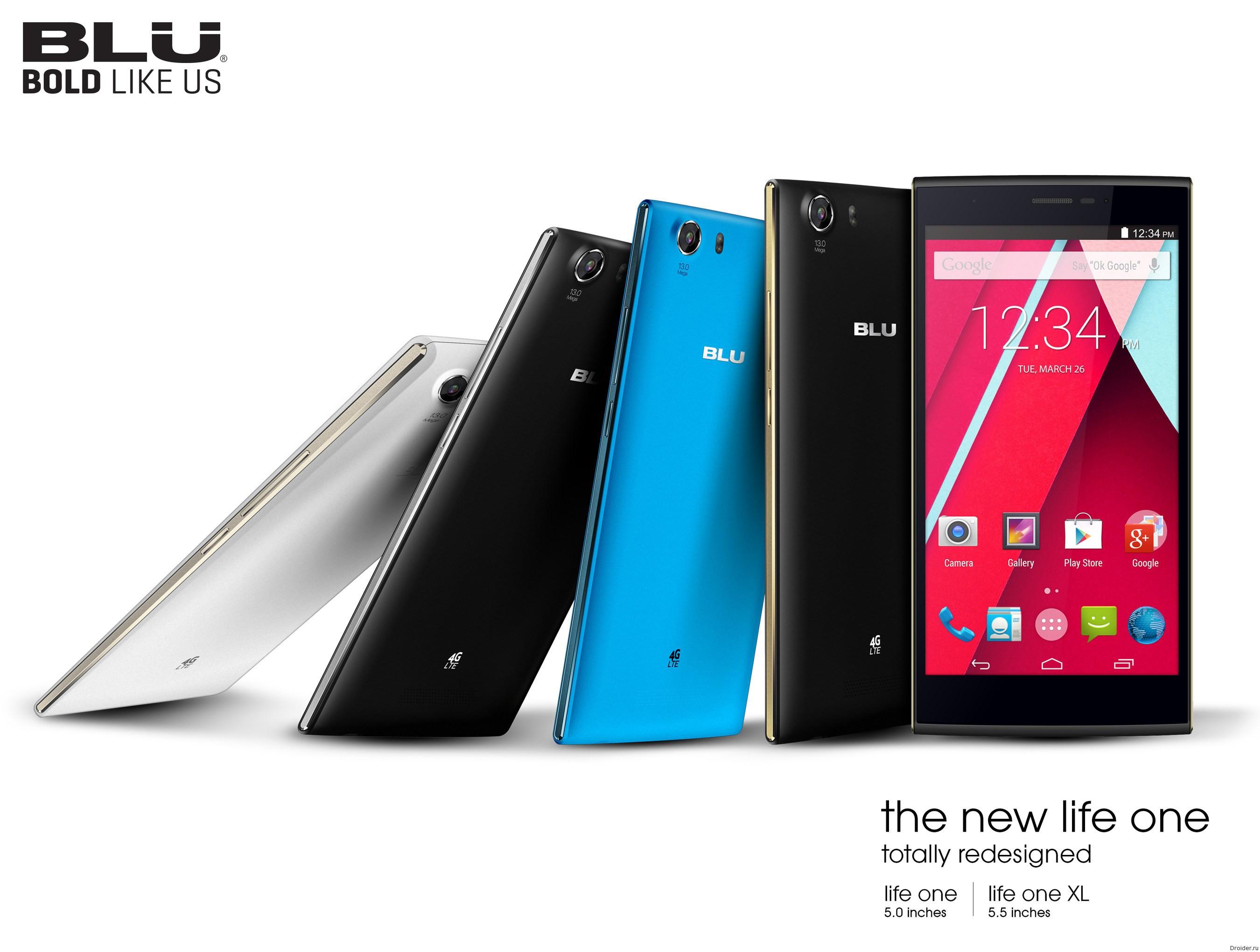 BLU расщедрилась 7 смартфонами на CES 2015