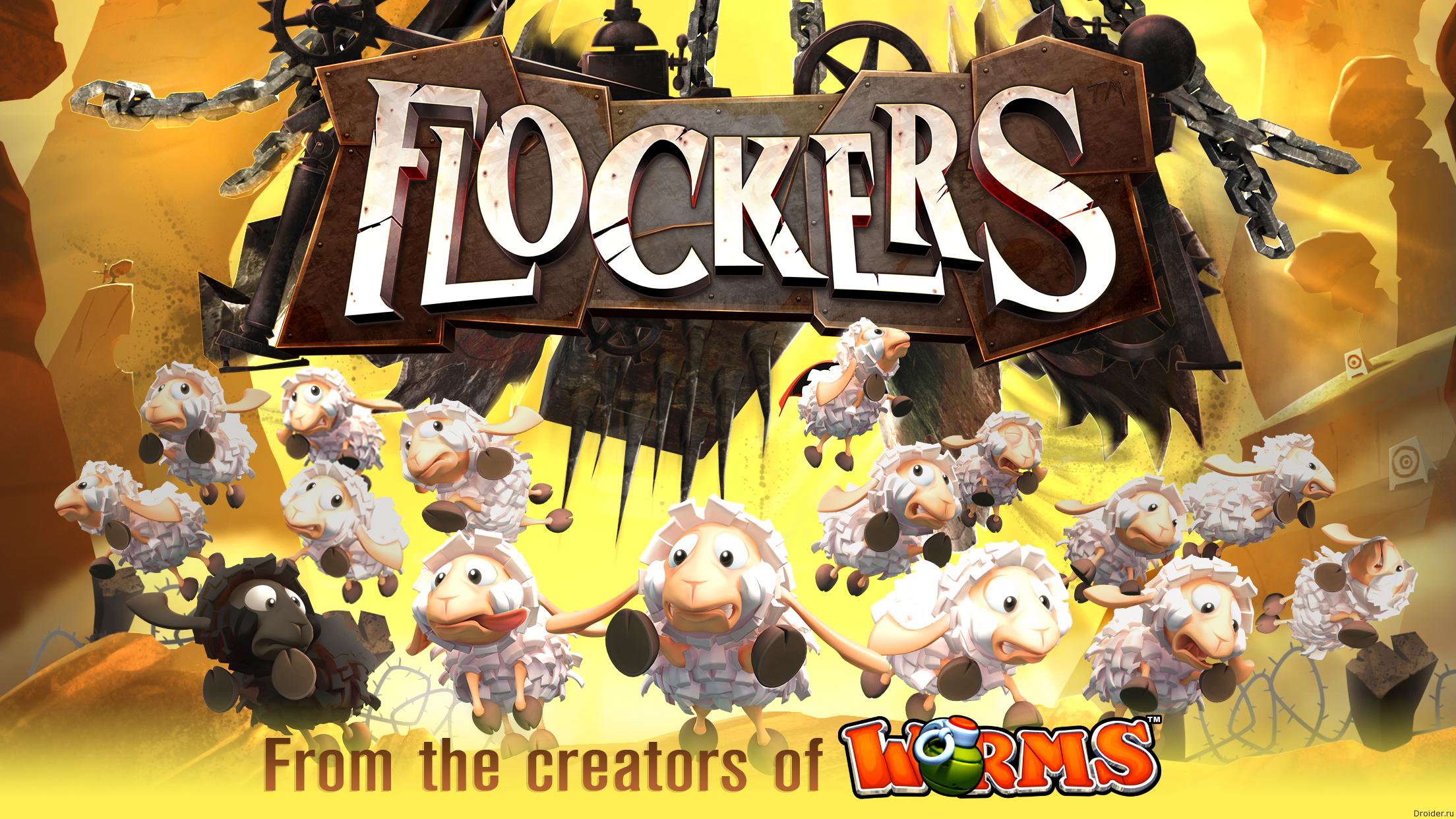 Flockers — игра об овцах и червях-злодеях от авторов Worms