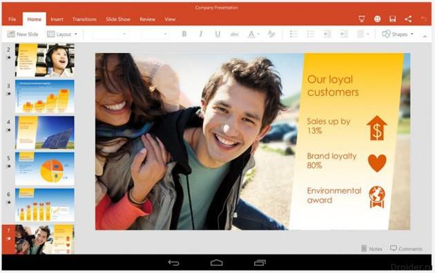 Приложения из пакета Microsoft Office появились в Google Play
