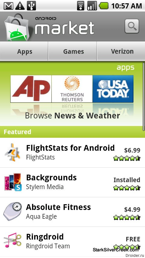 Android Market 1.6