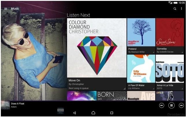 Музыкальное приложение Xperia Music заменит Walkman