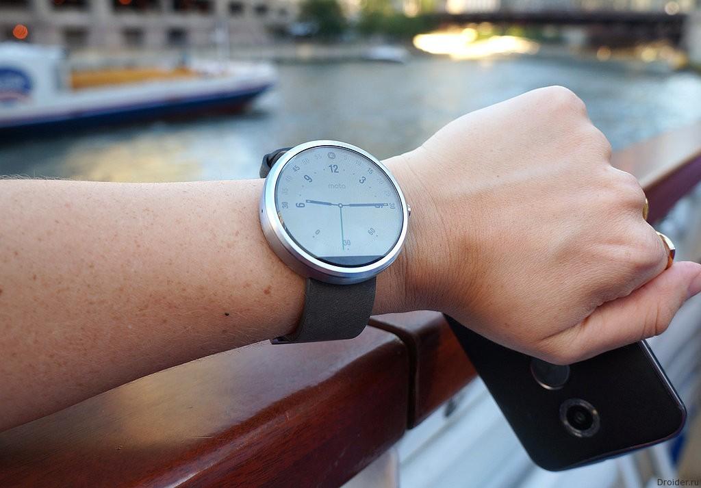 Часы Moto 360 подешевели до 165 долларов