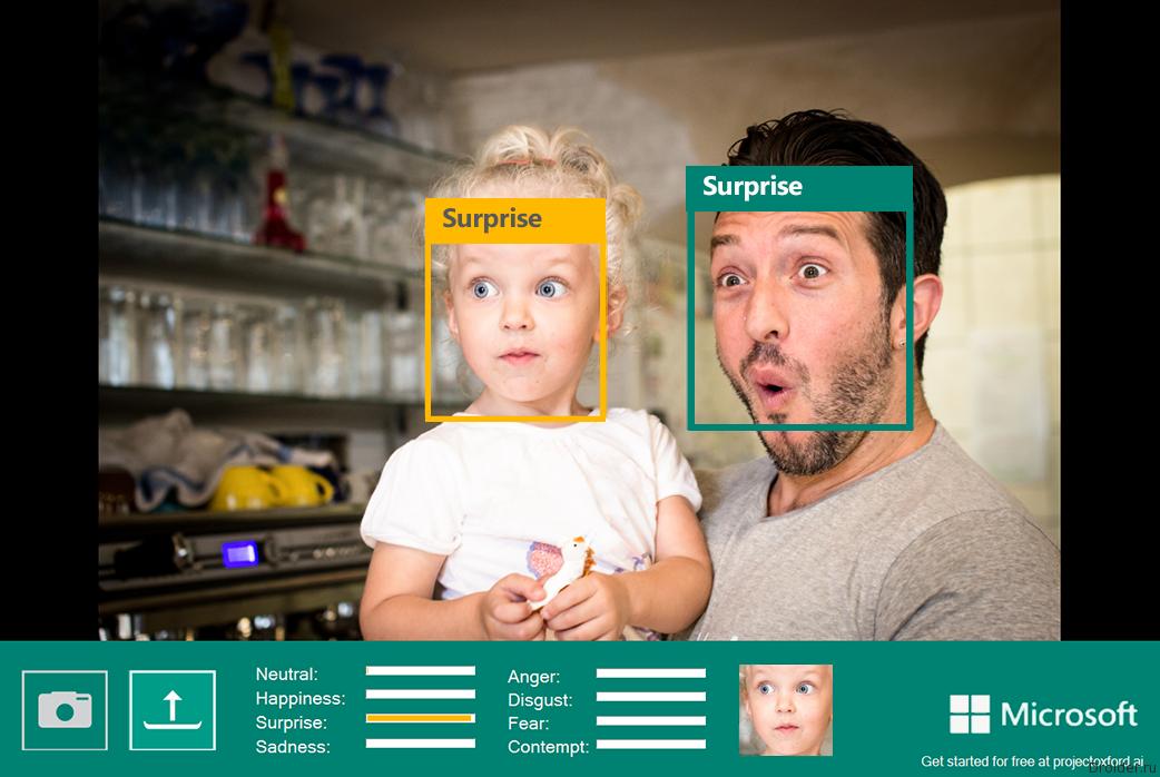 Microsoft распознаёт эмоции людей на фотографии