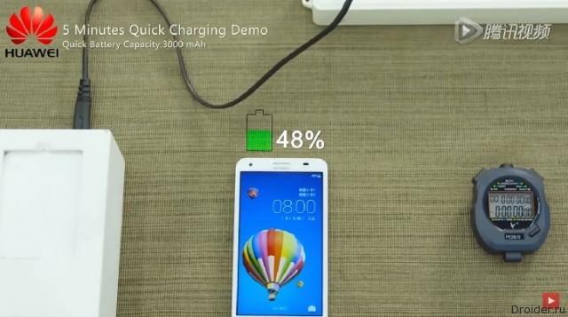 Huawei представила собственную технологию быстрой зарядки