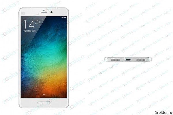 3D-рендер и «живой» снимок смартфона Mi5 от Xiaomi