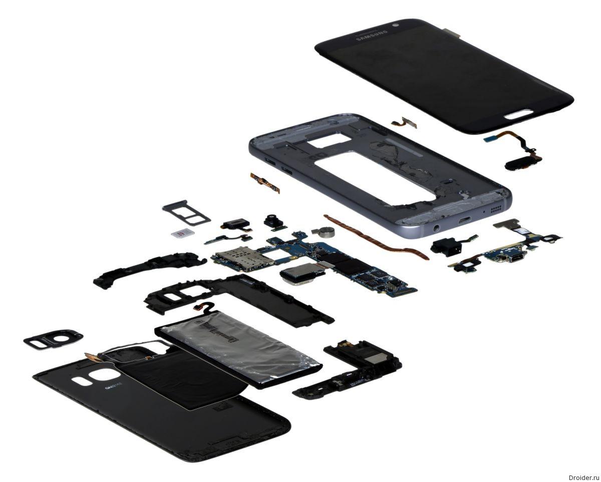 Комплектующие Самсунг Galaxy S7 стоят $255