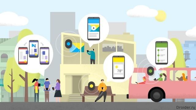 Android подскажет приложения и сайты на основе местоположения