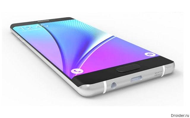 Фаблет Galaxy Note 7 от Samsung показался на 3D-рендере