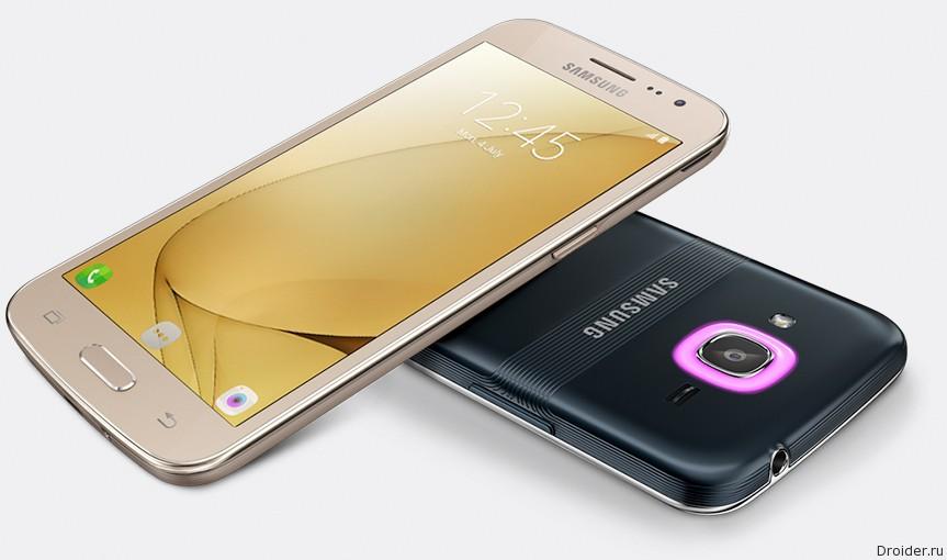 Samsung представила новый Galaxy J2 со светодиодным кольцом