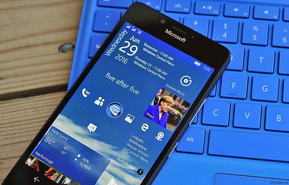 Смартфоны на Windows 10 Mobile начали получать Anniversary Update