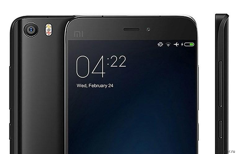 Смартфон Mi5S от Xiaomi позирует на «живом» снимке