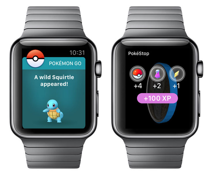 Покемоны добрались до Apple Watch