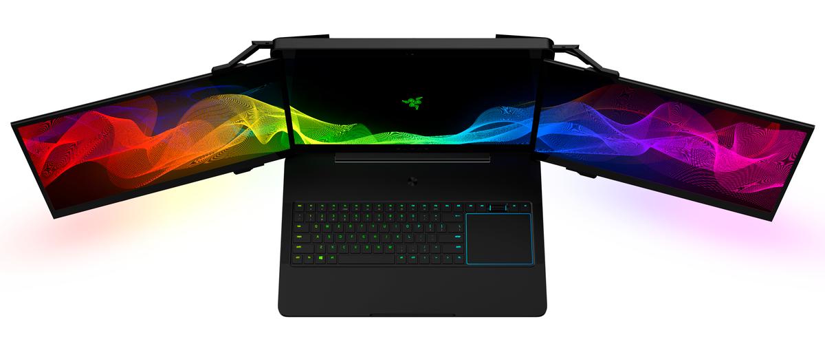 Ноутбук с 3 экранами от Razer | CES 2017