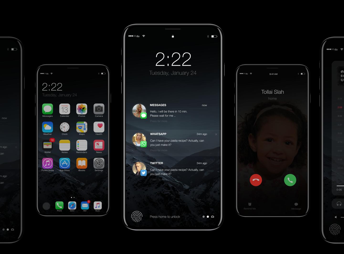Юбилейному iPhone на iOS 11 посвящен концепт