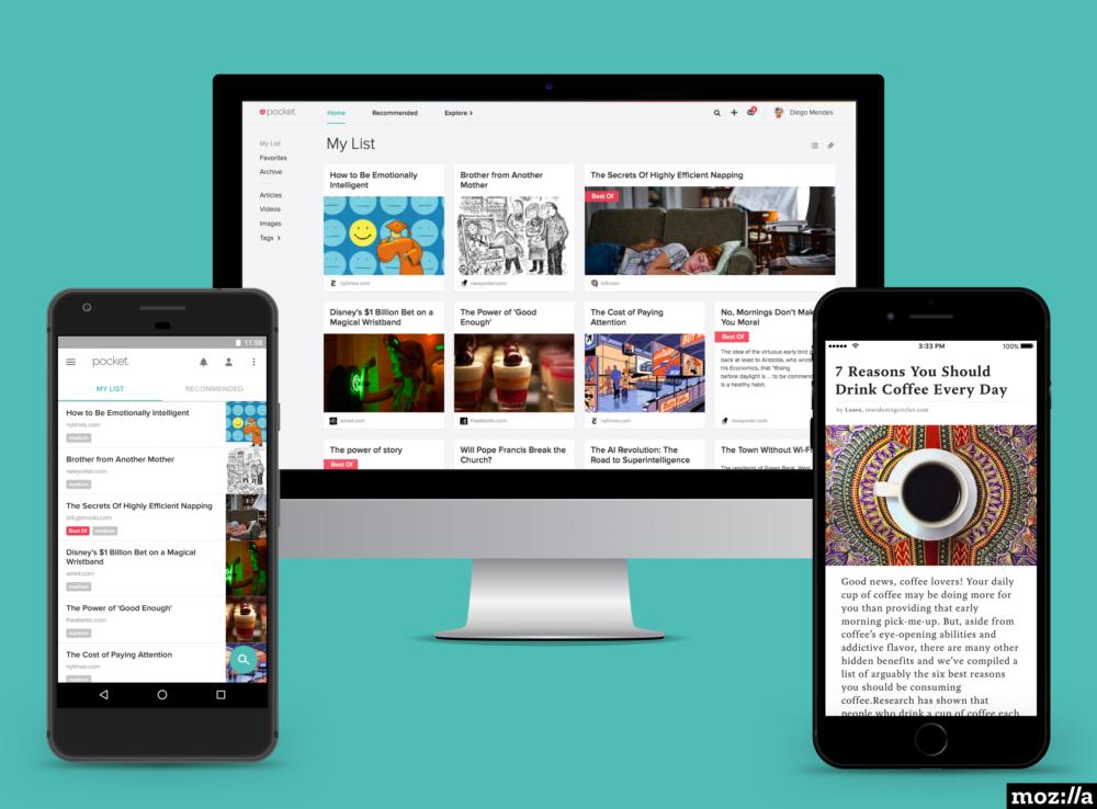 Mozilla прикупила Pocket