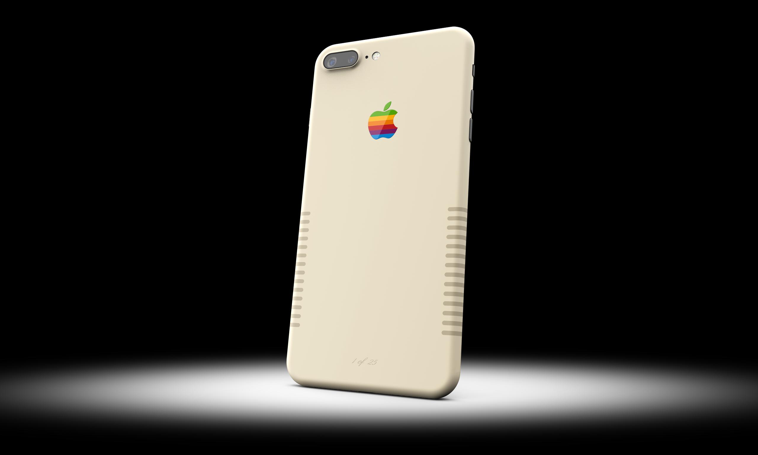 iPhone в стиле винтажного Macintosh
