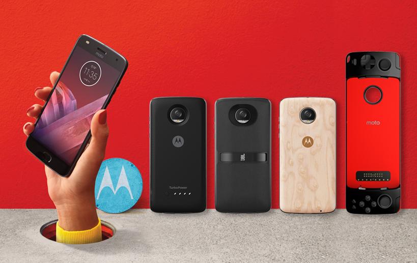 Анонсирован Moto Z2 Play с компанией Moto Mods