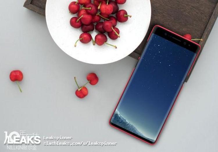 Galaxy Note 8 замечен в чехле