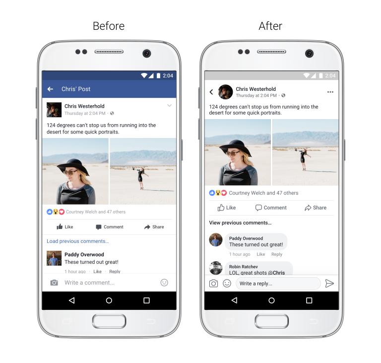 Facebook ожидает редизайн