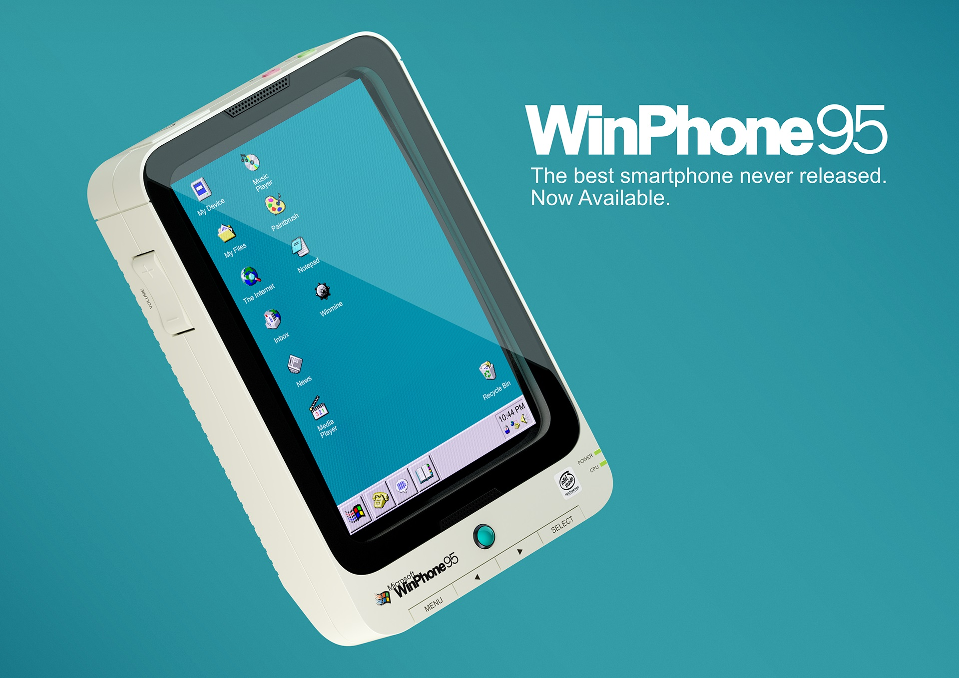 Дизайнерский смартфон на Windows 95