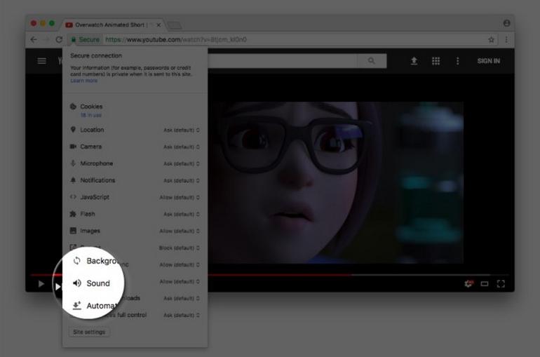 Chrome отключит автозапуск видео со звуком