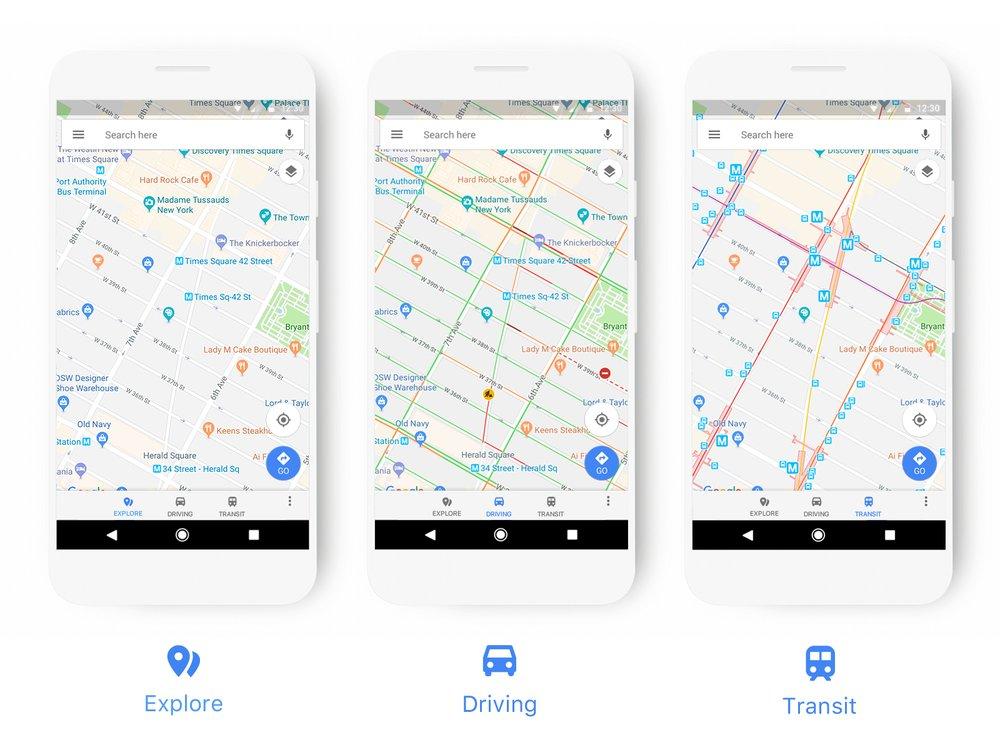 Google Maps станут минималистичнее