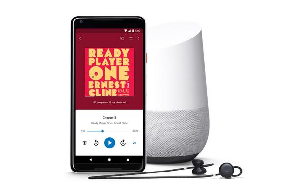 Полка Google для аудиокниг