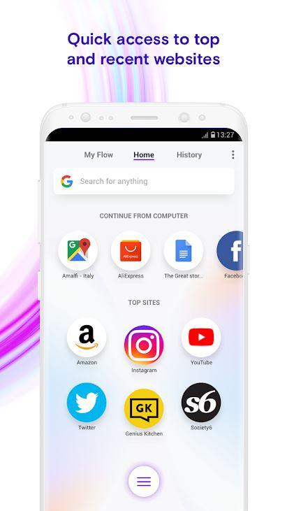 Opera Touch — «однорукий» браузер