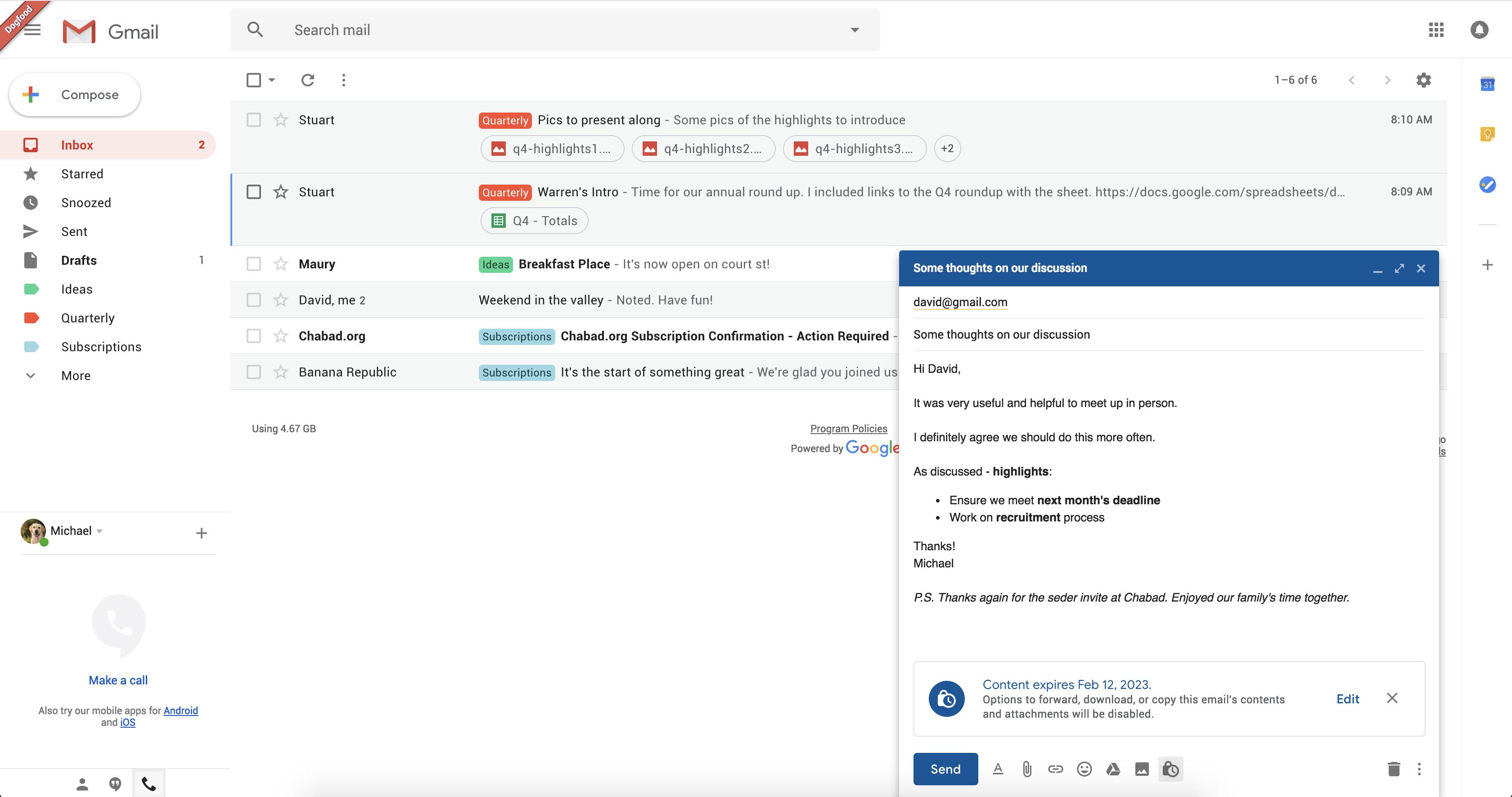 В Gmail будут самоуничтожающиеся письма