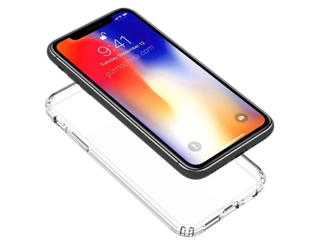 iPhone 9 позирует в прозрачном кейсе
