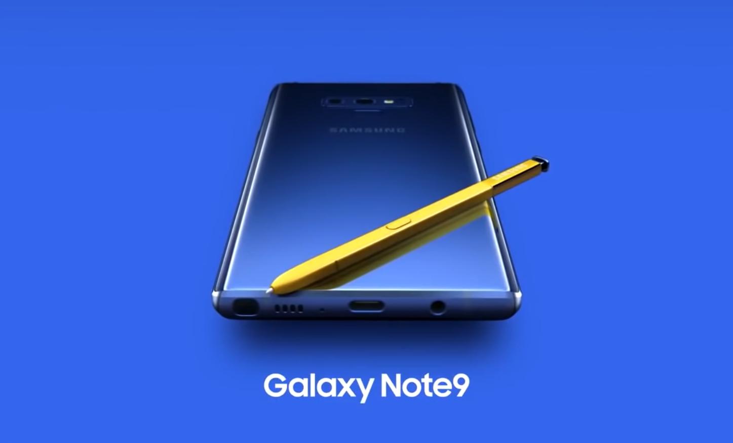 Galaxy Note9 случайно «засветился» в ролике