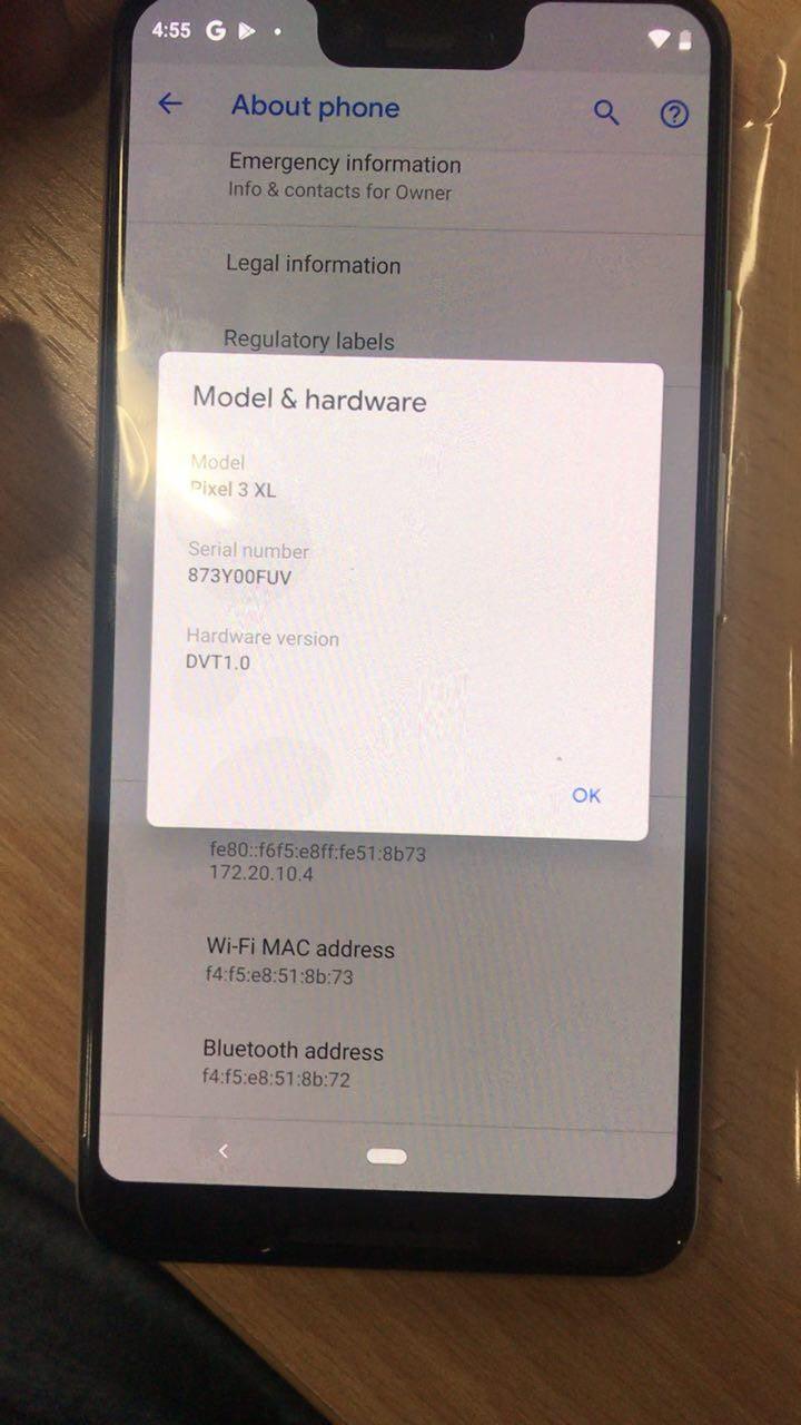 Pixel 3 XL вновь «засветился» на снимках