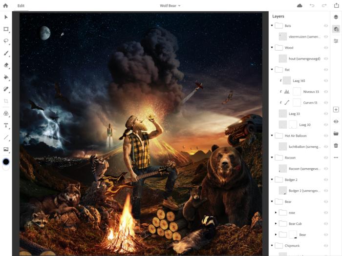 Анонсирован полноценный Photoshop для iPad