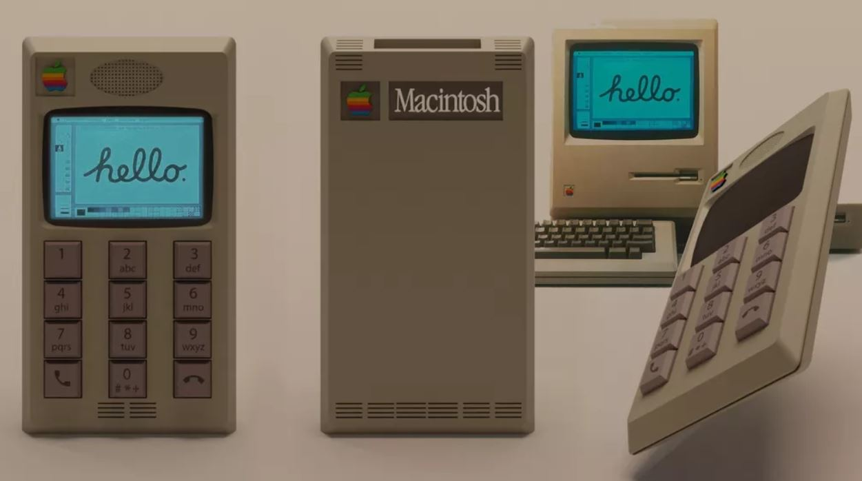 Если бы первый iPhone получил дизайн от Macintosh…