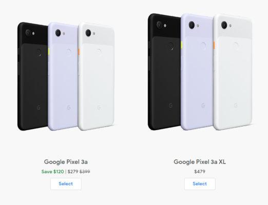 Google Pixel 3a подешевел до 279 долларов