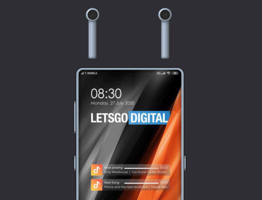 Xiaomi запатентовал смартфон с встроенными TWS-наушниками